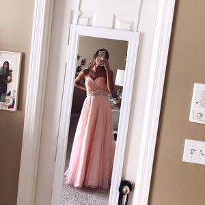 Alyce Paris Pink Jeweled Prom Dress